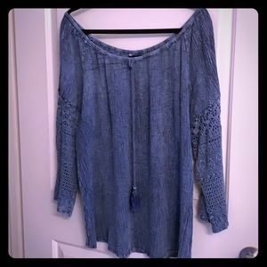 Unique spectrum jean blouse made in India size 2x